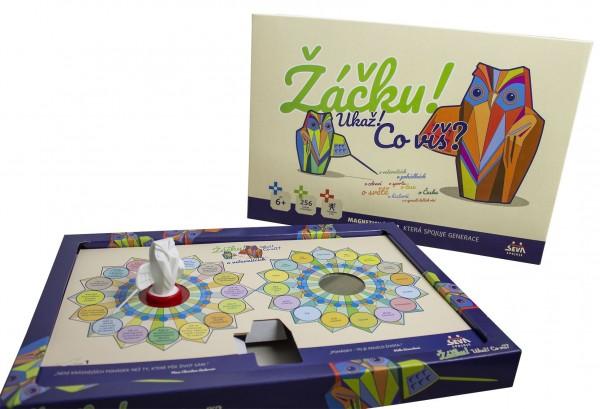 Žáčku! Ukaž! Co víš? společenská magnetická hra v krabici 42x29x6cm 6+