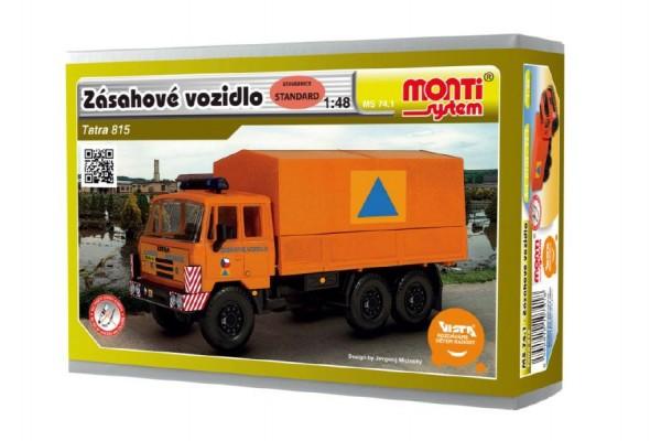 Stavebnice Monti 74.1 Tatra 815 zásahové vozidlo CO 1:48 v krabici 22x15x6cm