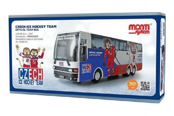Stavebnice Monti 31.1 Czech Ice Hockey Team 1:48 v krabici 32x16,5x8cm