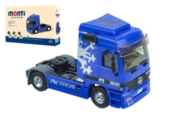 Stavebnice Monti 53.1 Tahač/kamion Mercedes Actros L-MS 1:48 v krabici 22x15x6cm