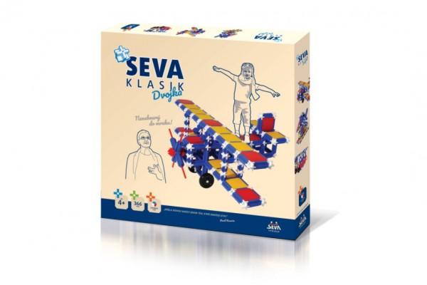 Stavebnice Seva plast Klasik Dvojka 366ks v krabici 36x33,5x5cm