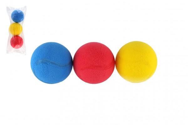 Soft míč na softtenis pěnový průměr 7cm 3ks v sáčku