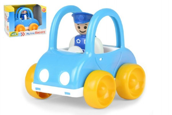 My First Racers policejní auto + figurka plast 10cm v krabici 15x11x11cm 12m+