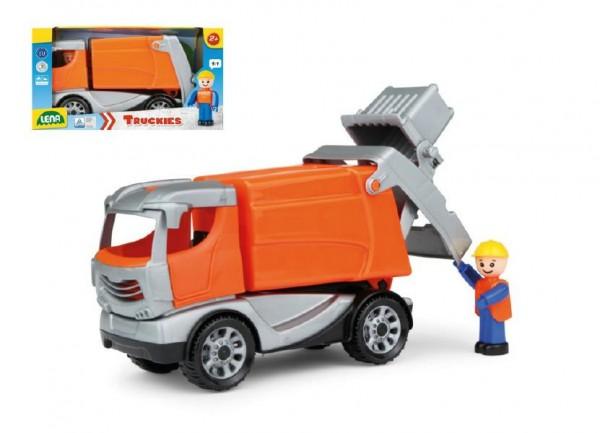 Auto Truckies popeláři plast 25cm s figurkou v krabici 24m+