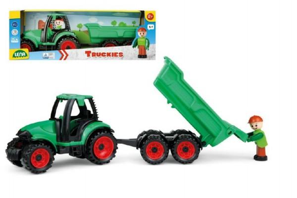 Auto Truckies traktor s vlečkou plast 32cm s figurkou v krabici 24m+