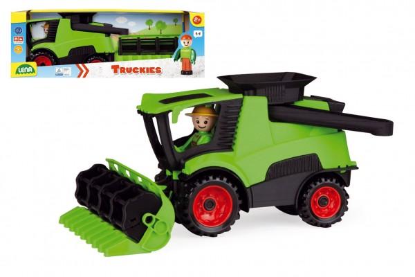Auto Truckies kombajn plast 20cm s figurkou v krabici 24m+
