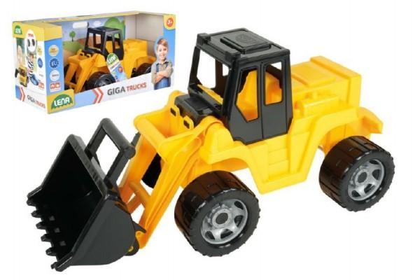 Nakladač žlutočerný Giga Trucks plast 62cm v krabici 70x35x29cm