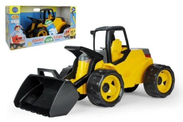 Nakladač žlutočerný Giga Trucks plast 75cm v krabici 70x35x29cm
