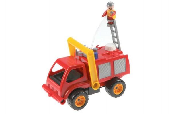 Auto hasiči aktivní s figurkou plast 26cm stříkací vodu 24m+