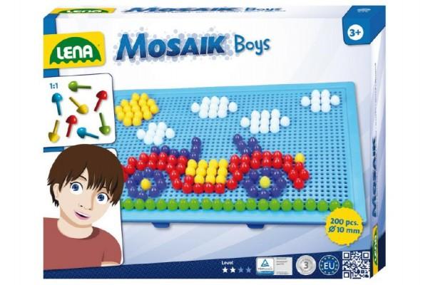 Mozaika pro kluky klobouček 1cm 200ks v krabici