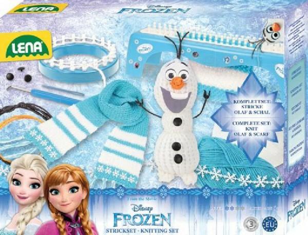 Studio pletení: pletací stůl Frozen/Ledové království plast s doplňky v krabici 35x27x7cm 6+