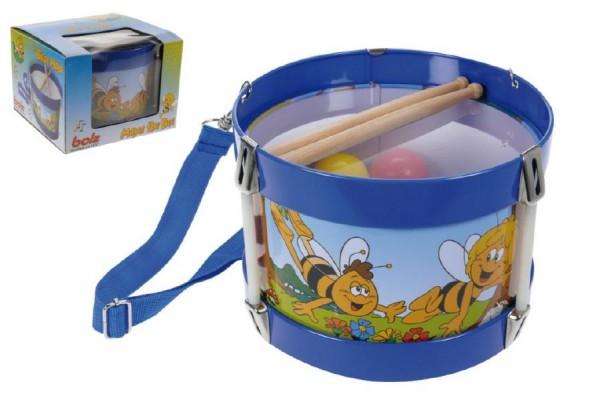 Bubínek Včelka Mája kov/plast průměr 17cm výška 12cm v krabičce