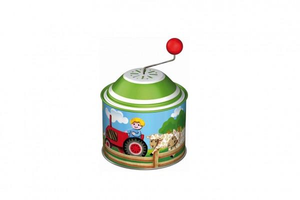 Hrající skříňka mlýnek farma kov 8cm 12ks v boxu 18m+