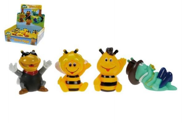 Stříkací zvířátka Včelka Mája gumová 6cm asst 4 druhy 12ks v boxu 6m+