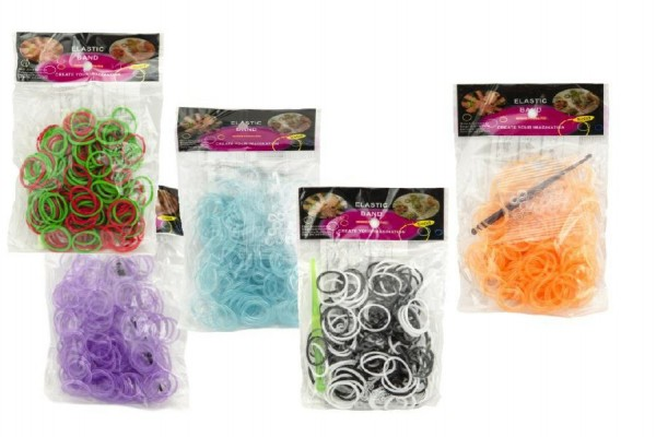 Udělej si svůj náramek - gumičky 300ks barevné asst mix barev v sáčku