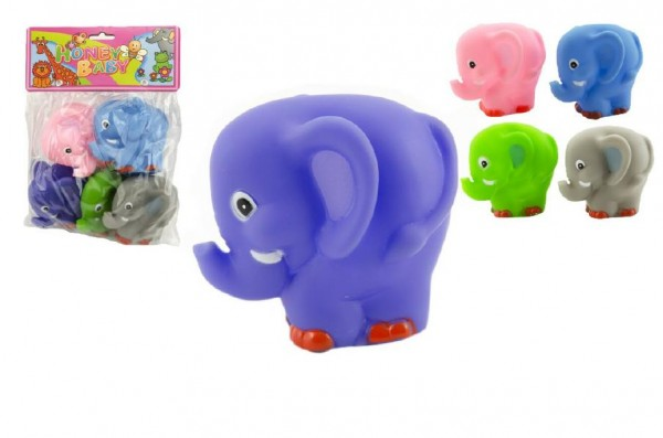 Slon pískací 5ks 9cm v sáčku