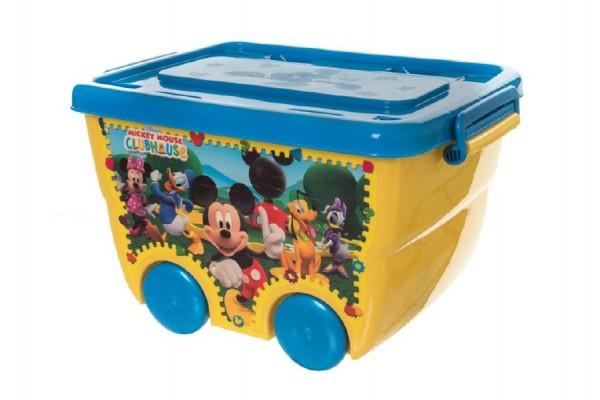 Box úložný na kolečkách Mickey Disney plast 40x25x32cm