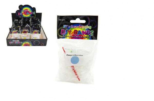 Udělej si svůj náramek - gumičky 300ks UV měnící barvu v sáčku