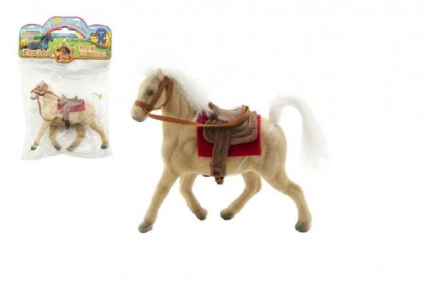 Kůň béžový fliška 13cm v sáčku