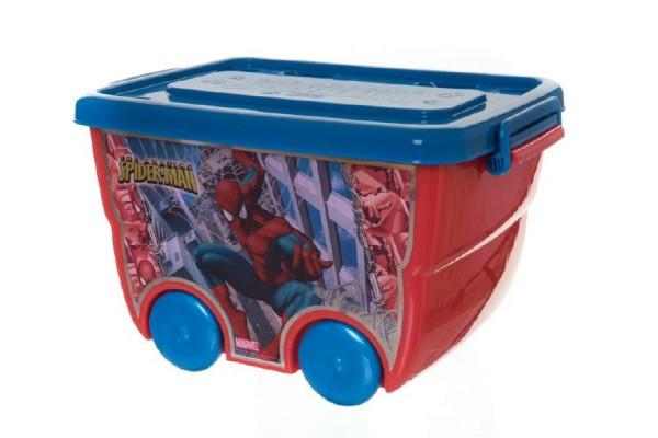 Box úložný na kolečkách Marvel Spiderman plast 40x25x32cm