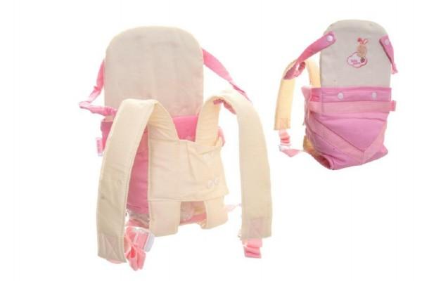 Nosítko klokanka látková pro miminko/panenku v plastové tašce 27x31x5cm