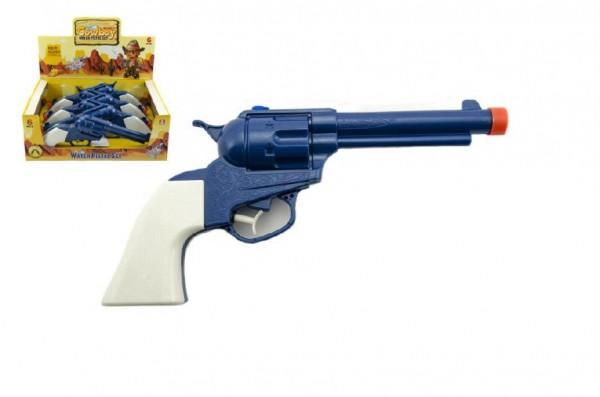 Vodní pistole kovboj stříkací plast 25cm 6ks v boxu