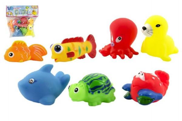 Mořská zvířátka pískací gumové 7ks v sáčku