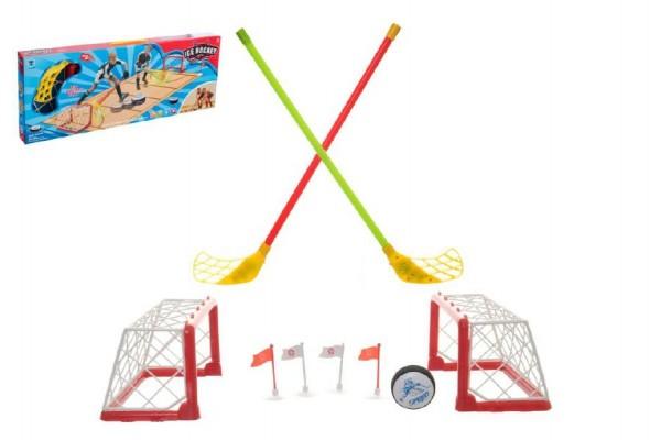 Hra hokej pozemní s doplňky na baterie se zvukem se světlem v krabici
