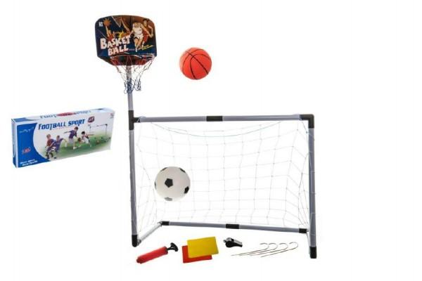 Sada basketbal a fotbal 2v1 plast v krabici