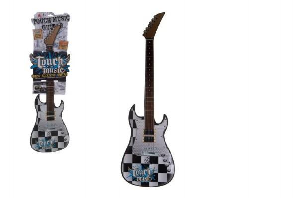 Kytara dotyková plast 77cm na baterie se zvukem na kartě