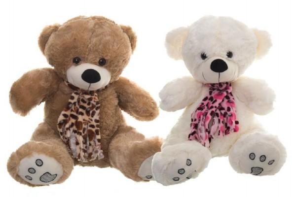 Medvěd plyšový s mašlí 64cm asst 2 barvy