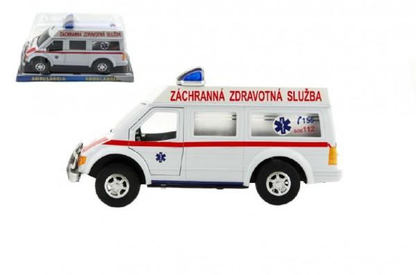 Auto ambulance SK plast 26cm na setrvačník v blistru