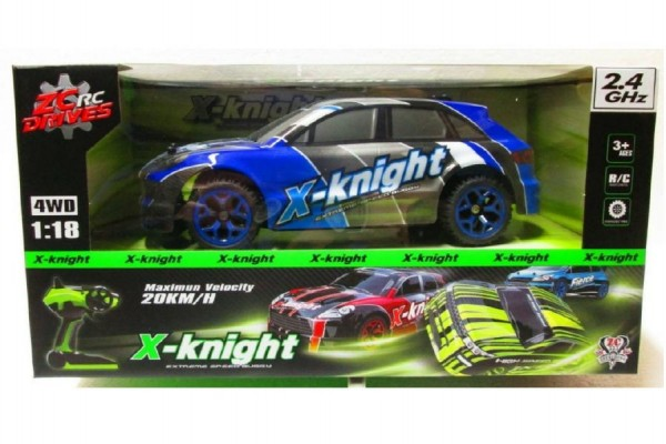 Auto RC plast 30cm na baterie asst 2 barvy v krabici 38x19x22cm