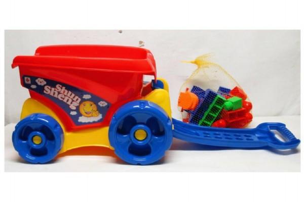 Vozík se stavebnicí 31 dílků plast 43x30x30cm