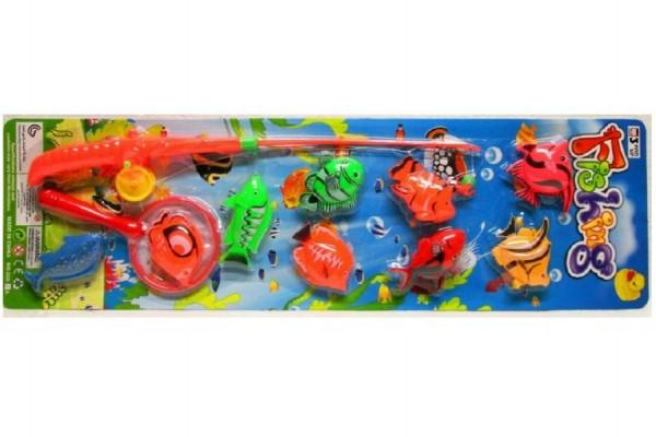 Hra ryby/rybář plast 10ks asst 2 barvy na kartě
