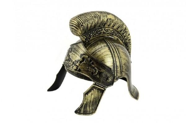 Římská přilba helma gladiátor bojovník plast 25cm v sáčku