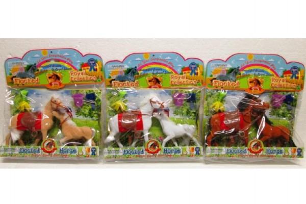 Kůň + hříbě s doplňky fliška 13cm asst 3 druhy v sáčku
