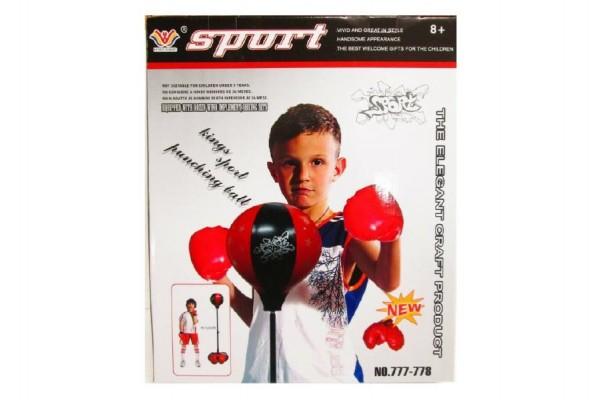 Sada boxovací se stojanem 120cm plast v krabici 41x49x13cm