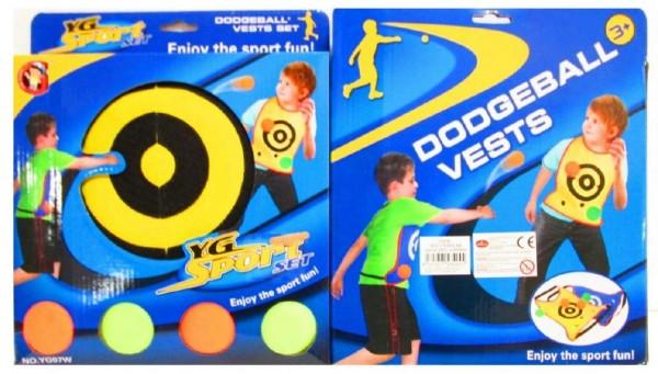Vesta s míčky hra 6ks v krabici 25x29x5cm