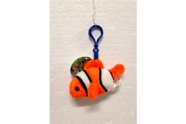 Ryba klaun přívěšek plyš 10cm