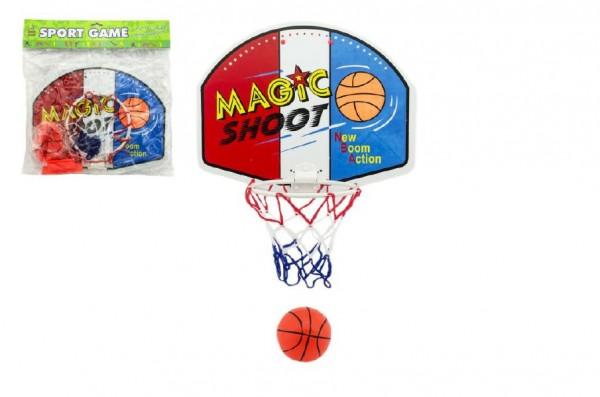 Basketbal hra s míčkem plast 42cm v sáčku