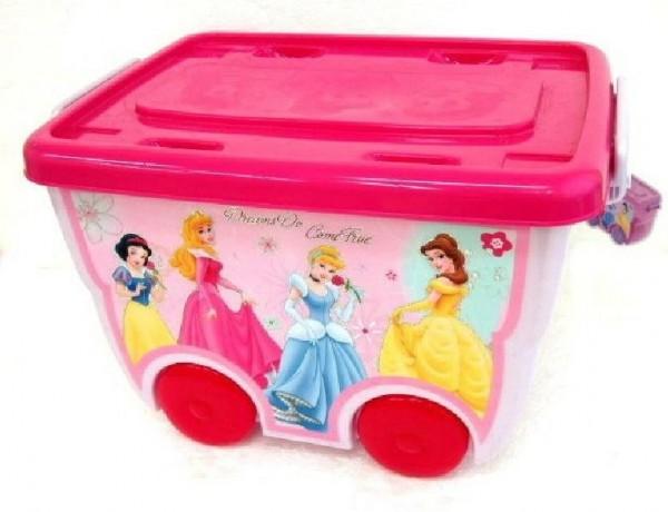 Box úložný na kolečkách Disney Princezny plast 45x34x29cm