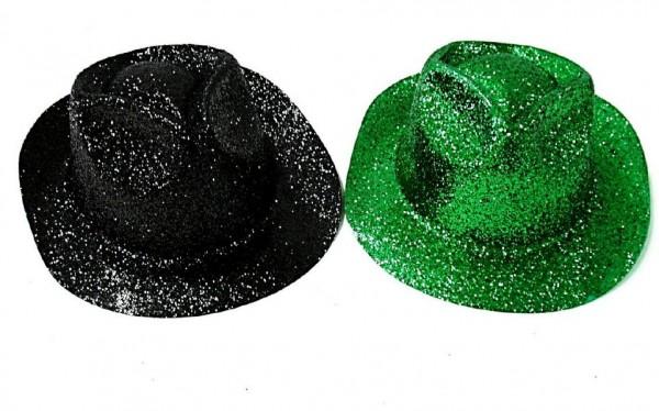 Klobouk party se třpytkami plast 30cm asst 2 barvy karneval