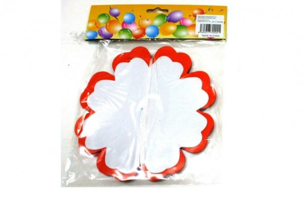 Girlanda papírová květ 4m asst mix druhů v sáčku karneval