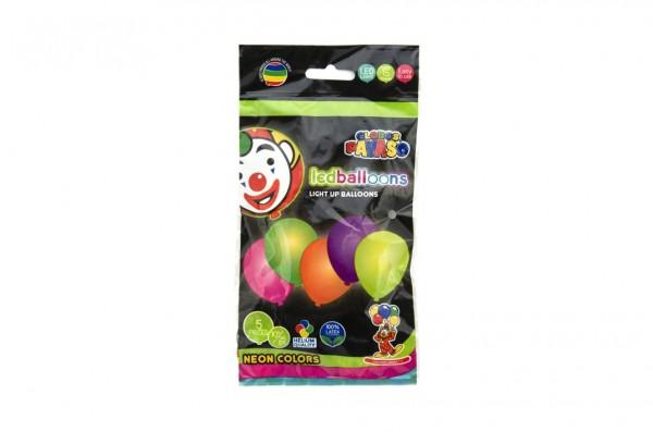 Balonek/Balonky nafukovací LED neon svítící 10