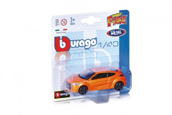 Auto Bburago Street Fire kov/plast 10cm 1:43 mix druhů na kartě
