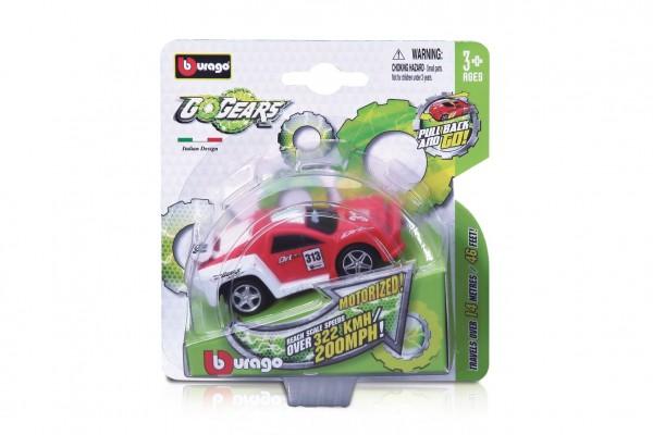 Auto Bburago Go Gear 8-9cm plast 6 druhů na kartě