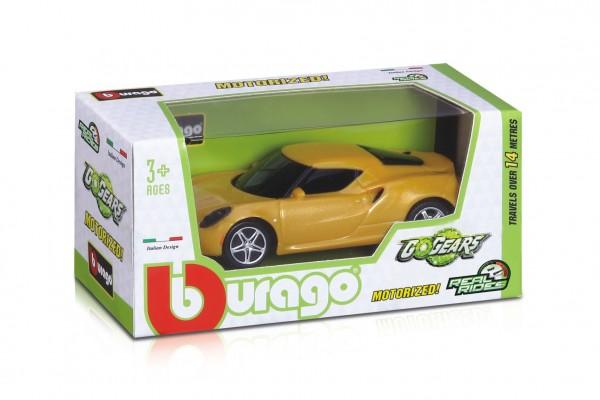 Auto Bburago Go Gears 10cm plast mix druhů v krabičce 13x6x6cm 24ks v boxu