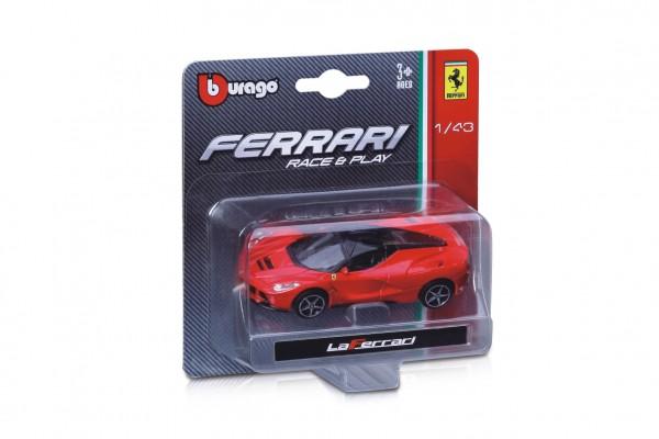 Auto Bburago 11cm plast 1:43 Ferrari Race & Play 2 druhy na kartě