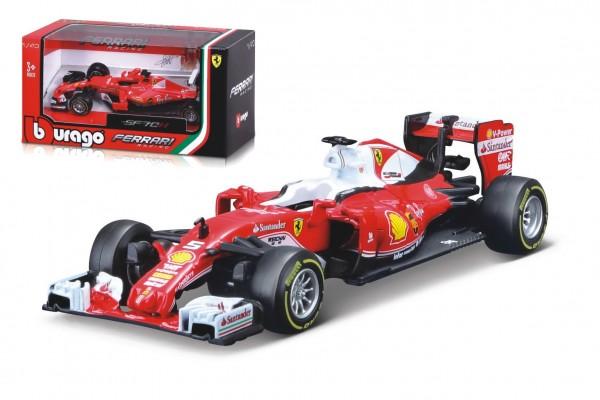 Auto Bburago 1:43 Ferrari Racing formule kov/plast 2 druhy v krabičce 14x7x7cm  24ks v boxu